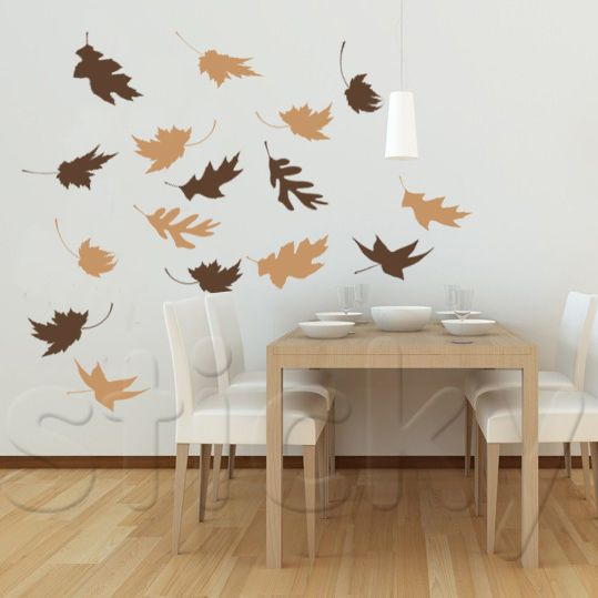 Wall Sticker FALL LEAVES by Sticky!!!