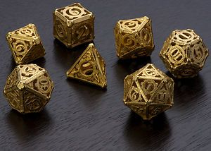 Victorian style dice. Now I need a steampunk RPG to use them with.