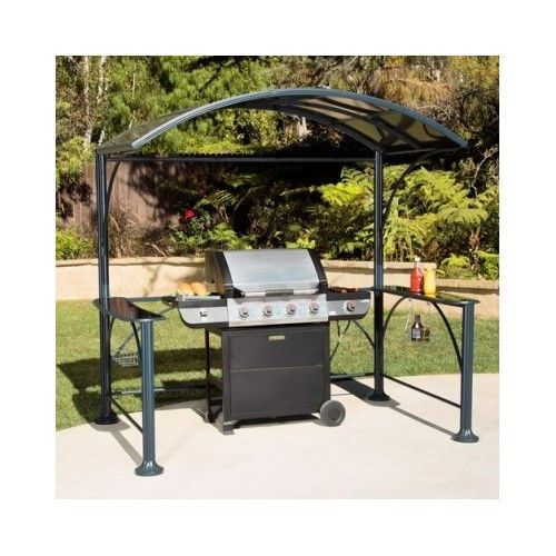 GRILL GAZEBO Hardtop Backyard Patio Cover Canopy Umbrella Tent Pergola BBQ