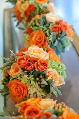Flowers & Decor, Real Weddings, Wedding Style, orange, Bridesmaid Bouquets, Rustic Real Weddings, Summer Weddings, West Coast Real Weddings,...