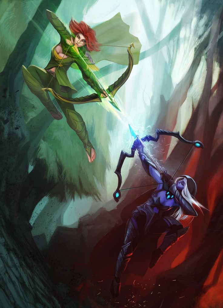 Drow Ranger vs Windrunner by entroz.deviantart.com on @deviantART