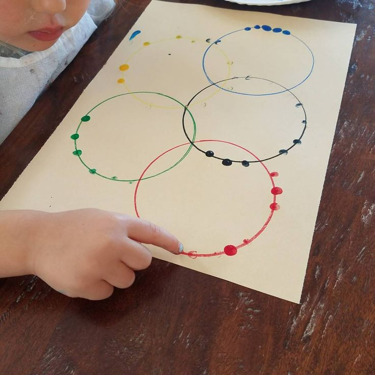 "Olympic art today and shadow matching (which she did very well at!). We used our fingerprints to make the Olympic Rings and then stamped ""rings"" using the Olympic ring colors! #toddlerart #olympicrings #olympics #shadows #nannylife #lifeofananny #nannykids #celebratenannylife #toddlerlife #toddler #nanny #teacher #teacherlife #childeducator #kids #preschoolteacher #totschooling #totschoolathome #children #nannyfriends #nannies #learningthroughplay #totschool"