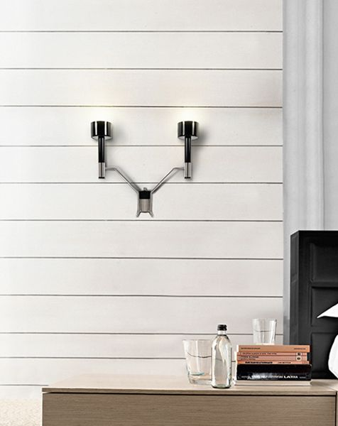 This is a retro wall fixture with a simple and strong statement | Discover more wall lamps for bedroom ideas: http://masterbedroomideas.eu