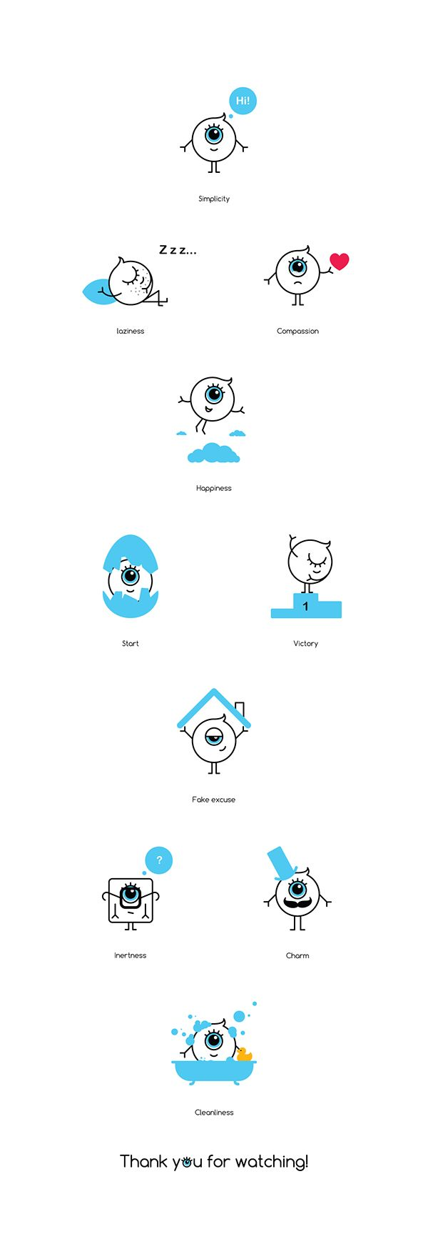 Emotions Icon set on Behance