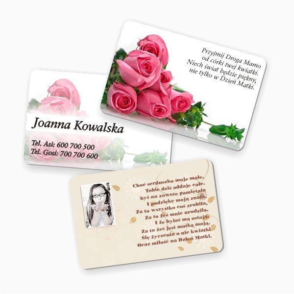 Plastikowa karta z nadrukiem to świetna alternatywa dla zwykłej kartki urodzinowej. Wymiary karty są takie jak karty bankomatowej, więc można zawsze nosić ją przy sobie :)