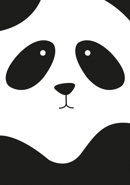 Panda Art Print by Scott Coleman   Society6. I had this as my cellphone case. :)