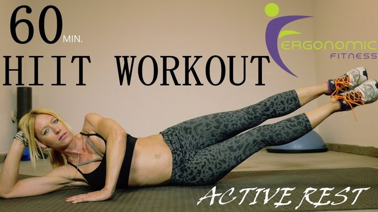 60 MINUTE HIIT WORKOUT - ACTIVE REST! (FAT BURNER)