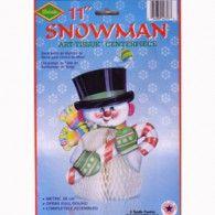 Centrepiece Honeycomb Snowman $10.95  BE22357