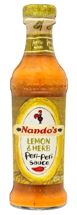 Nando's Peri-Peri Sauces: Lemon & Herb and Mild -I am absolutely in love with this sauce :)