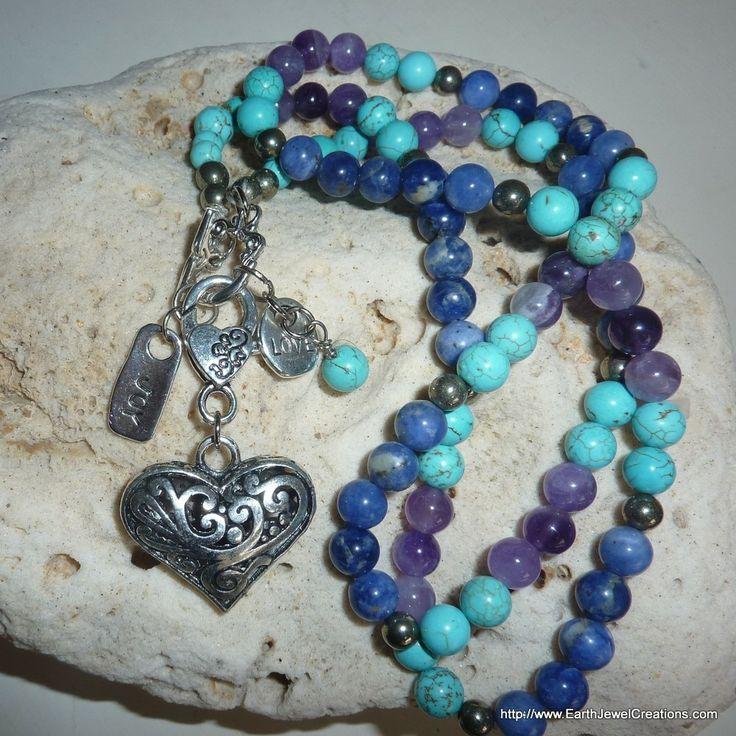 Intuition & Expression Necklace & Wristwrap - handmade crystal energy gemstone jewellery Earth Jewel Creations Australia