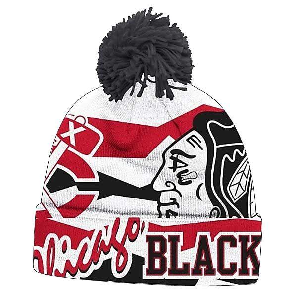 ... authentic chicago blackhawks 2014 nhl stadium series cuffed pom knit by  reebok chicago blackhawks d8513 19152 ... 8c63ac56ea4