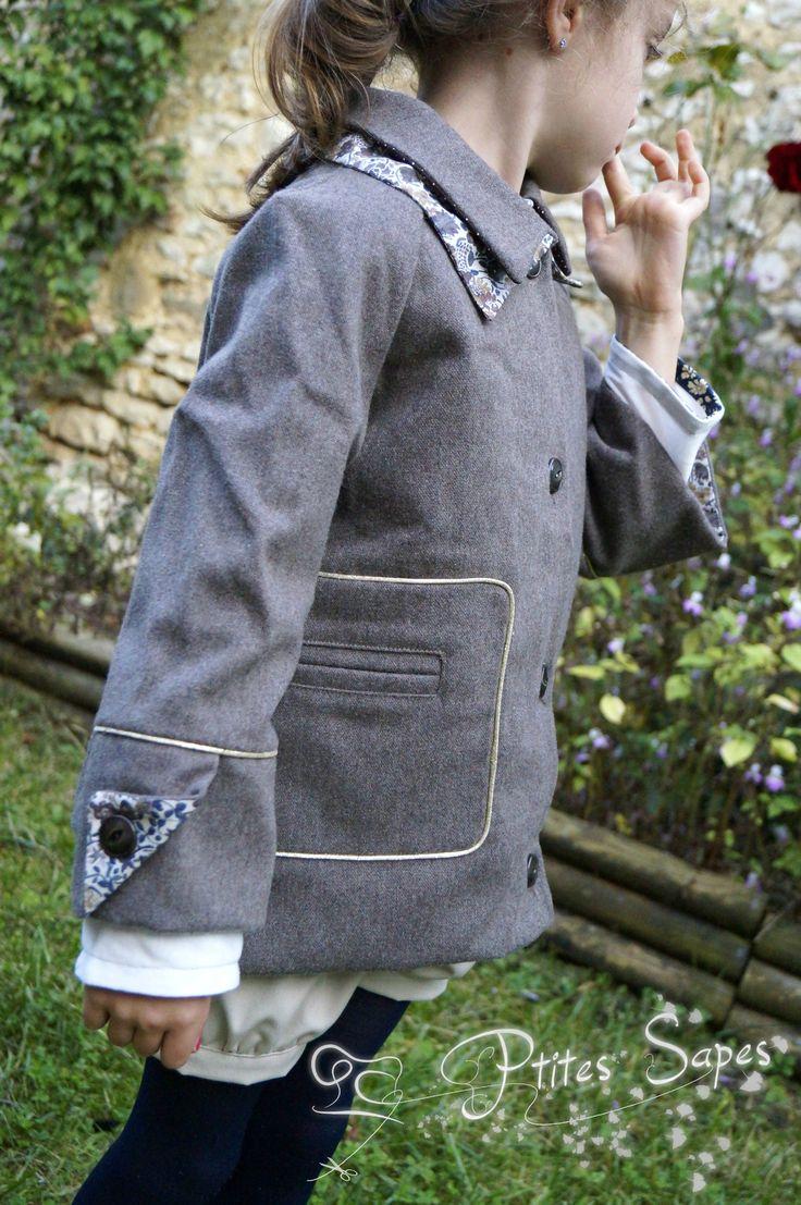 Manteau CEPHEE, livre Grains de Couture pour Enfants, Patron de Couture, Ivanne SOUFFLET, by Ptites Sapes