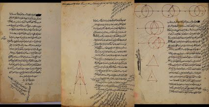A miscellany of Ottoman's version of two Arabic works on arithmetic, geometry and astronomy.   The manuscript consists of two chapters (35 folios) in Nasta'lliq script on european Strong paper: Risalatu fi Ma'rifat Al 'abad Al Akram and Ma'rifat Al-Afkar fi Amal Al-lail An-Nahar authored by Sehzade Caminede Al Tiusah Edil-mis and calligraphed by Muhammad Ibn Osman Ibn Sadiq Al-Bakri Al-Faramisi, dated in 1080 AH (1669 AD) and originated from Turkey Ottoman empire.