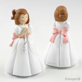 Novedad 2014 : Figura pastel niña Comunión rosario 16cm
