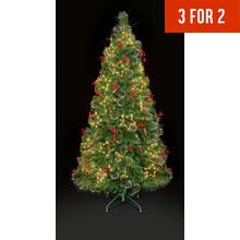 Premier Decorations 4ft White LED Snow Tipped Tree – Green