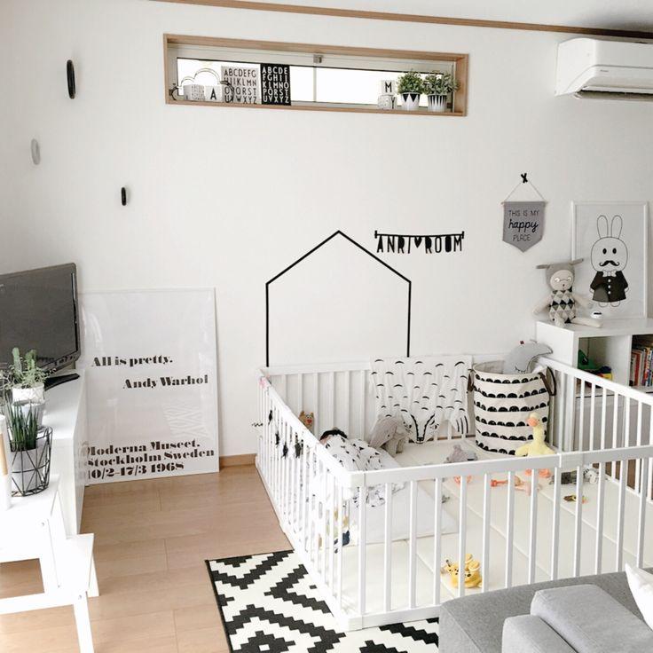 女性で、、家族住まいの部屋全体/定点観測/赤ちゃんのいる暮らし/赤ちゃんスペースについてのインテリア実例を紹介。