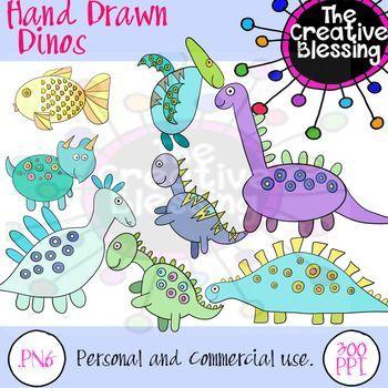 Hand Drawn Dinosaur Clip Art