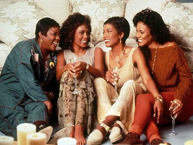 "Whitney Houston  Houston followed up her Bodyguard success by appearing opposite Loretta Devine, Angela Bassett and Lela Rochon in the 1995 big-screen adaptation of author Terry McMillan's best-seller Waiting to Exhale. Though the film was a success, Houston was unhappy on set. ""You know, I was a movie star. I really didn't want to be one,"" she told Vibe. ""I was raising my daughter. I wasn't with my husband. I had to be in Phoenix. And it was like, Yo, f--- this. I don't wanna do this."""