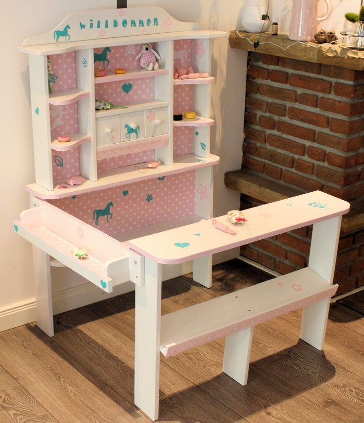 kaufladen wei rosa mint kaufladen und kinderk che pinterest mint. Black Bedroom Furniture Sets. Home Design Ideas