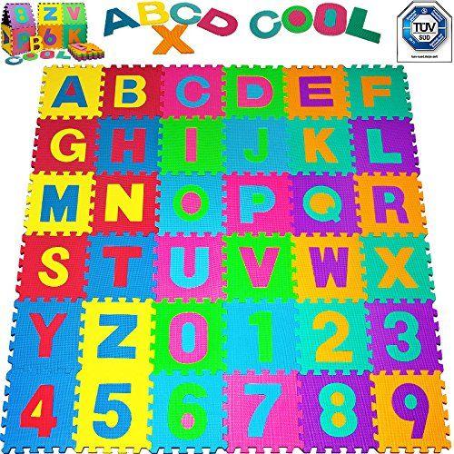 Puzzlematte 86 tlg. - Kinderspielteppich Spielmatte Spielteppich Kinderspielzeug. Spielend lernen. Gibt es hier:  ->http://amzn.to/2kHBov8