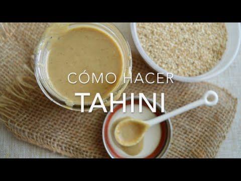 CÓMO HACER TAHINI (crema de ajonjolí o sésamo) www.pizcadesabor.com