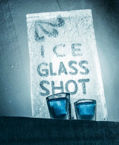 LITERALLY : Ice glasses of Icebar in Arctic Snowhotel Rovaniemi in Lapland, Finland