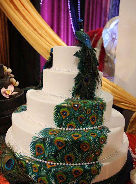 Esküvői torták páva mintával - Esküvői blog
