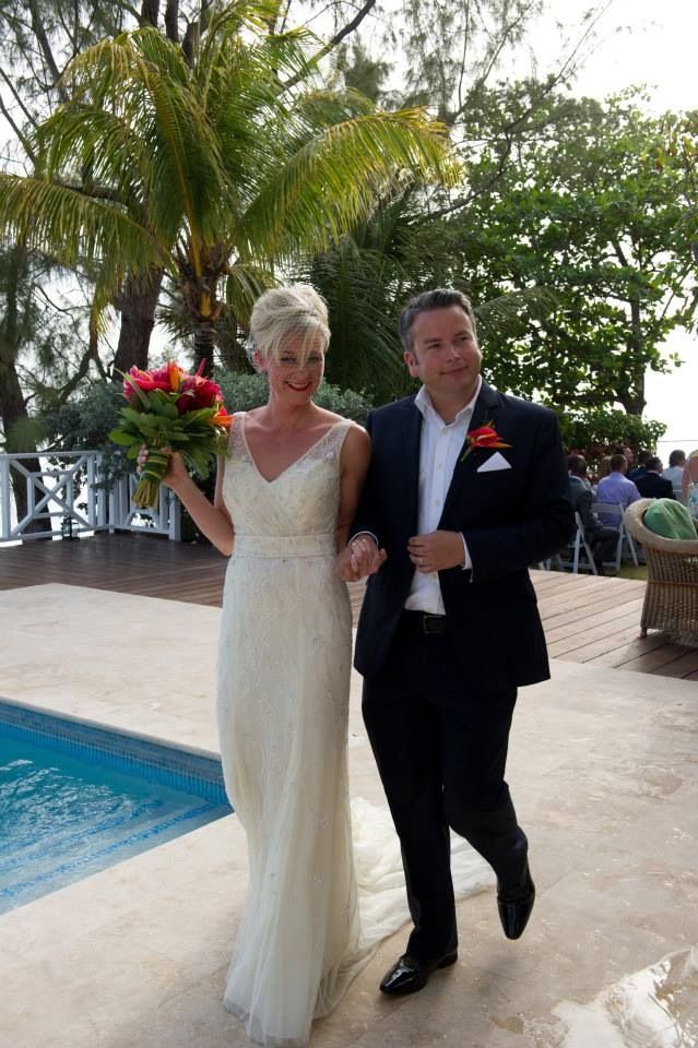 """After the """"I Do's"""" in a beautiful Barbados wedding. Photography by Mark Bushkes"""