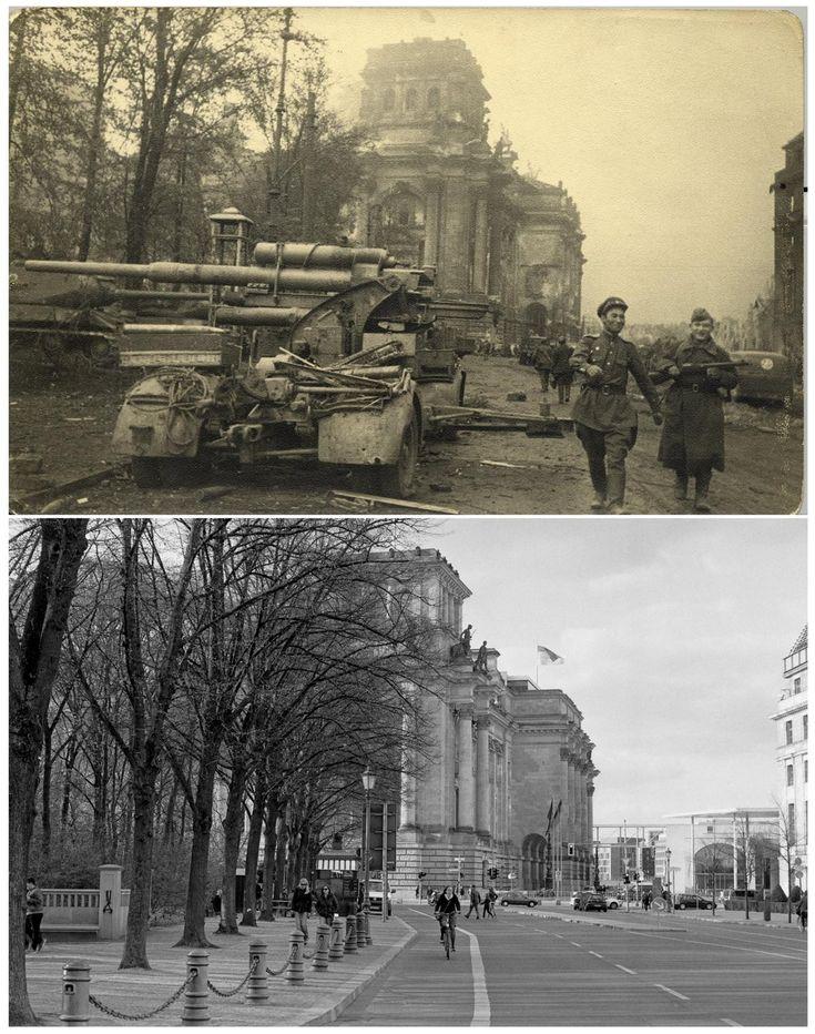 Berlin   1933-45+. Nach der Schlacht von Berlin. Vergleich, Reichstags. Post WWII Berlin. Post WWII