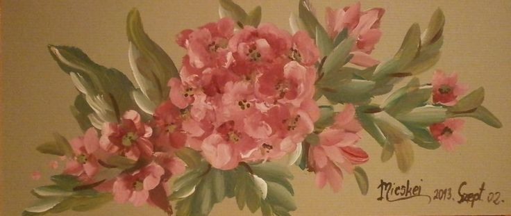 leándercsokor-akril-karton-11x20 cm