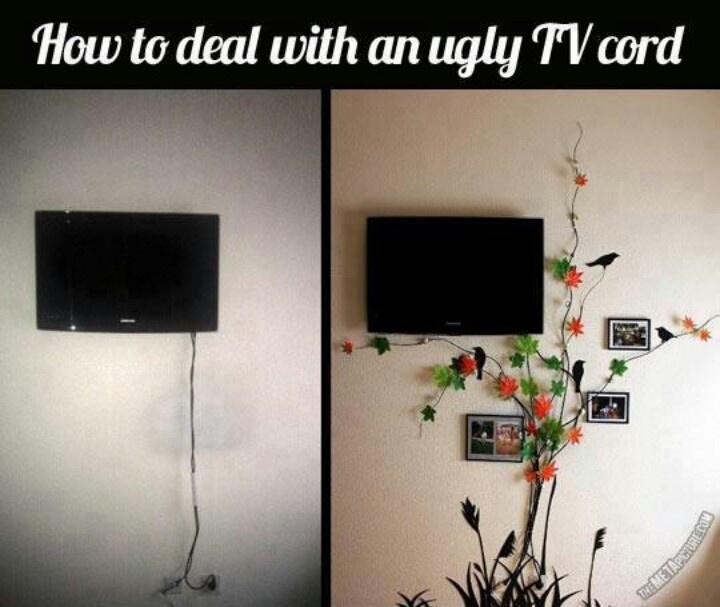 tvs hide tv cords and hide tv on pinterest. Black Bedroom Furniture Sets. Home Design Ideas