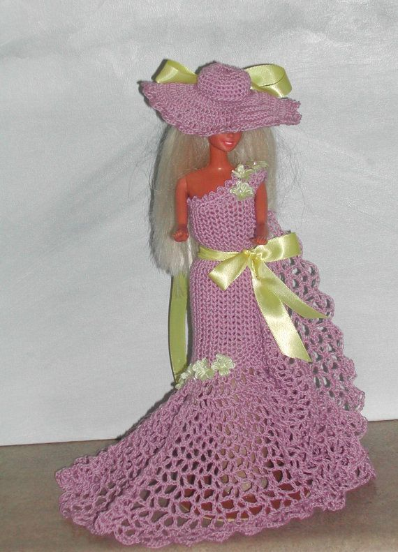 Crochet Fashion Doll Barbie  Pattern 431 by JudysDollPatterns