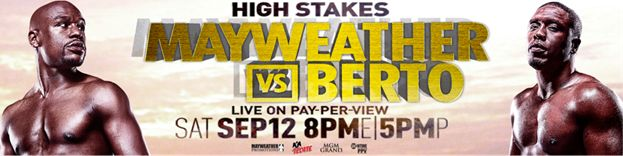 Watch Floyd Mayweather Jr. vs. Andre Berto Live BIG Boxing Fight in HD Quality TV Streaming! Secure Sign Up Now Showtime PPV. Uninterrupted Coverage Of 4500+ (incl. 78+ Sports) TV Channels Online. No Blackouts! No... #2015boxinglive #2015lasvegasboxinglive #andrebertovsfloydmayweatherlivestream