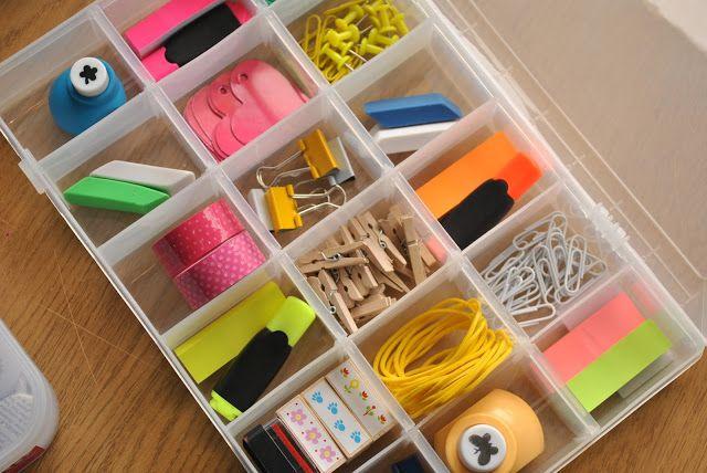 Cadeau des maitresses – une boite pleine de fournitures à glaner et à décliner en couleurs