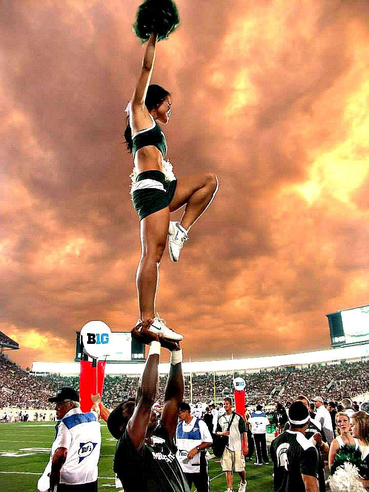 Michigan state spartans cheerleaders well told