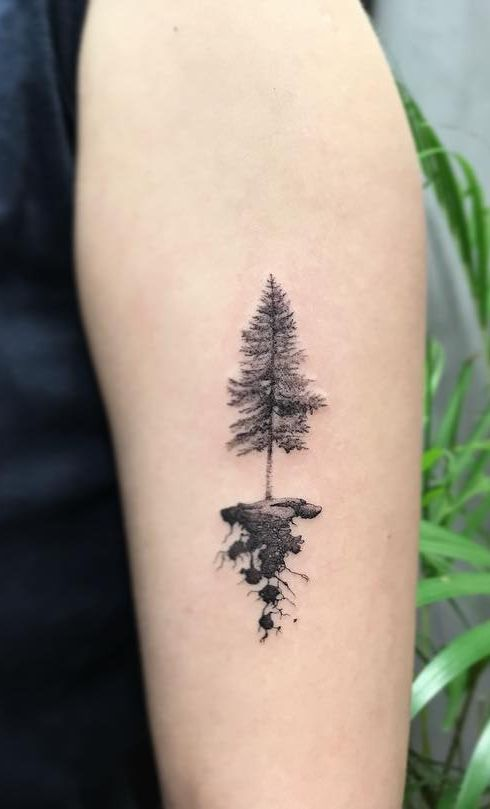 Christmas Tree Tattoo Small.50 Gorgeous And Meaningful Tree Tattoos Inspired By Nature S