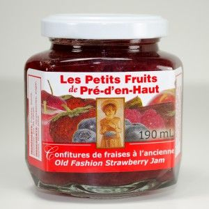 Les Petits Fruits de Pré-d'en-Haut, Old Fashion Strawberry Jam....available in gift baskets featuring East Coast products from BeenThereGifts.com, an Atlantic Canadian company