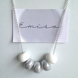 Silver Necklace // 5 Bead Combo - Emisa