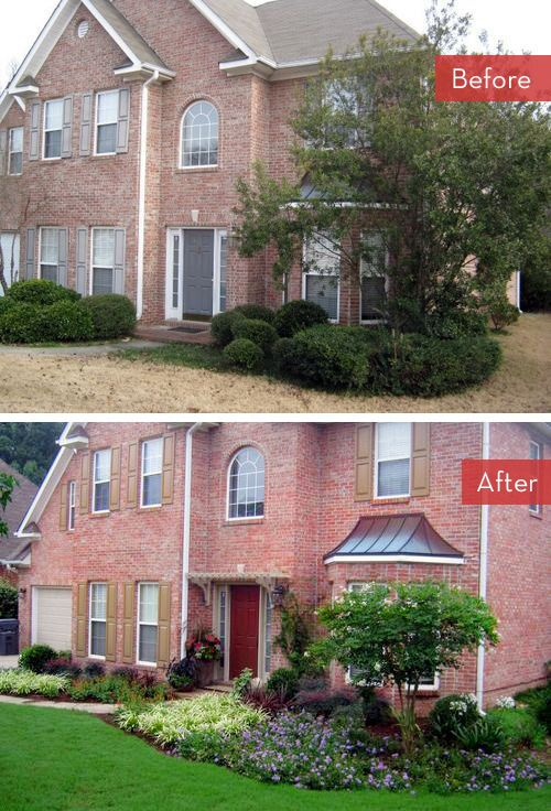 Roundup: 5 Yard & Landscaping Makeovers » Curbly | DIY Design Community--nice idea for front of house