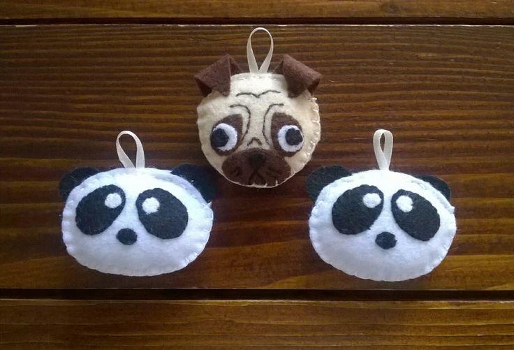 Portachiavi panda carlino feltro pannolenci