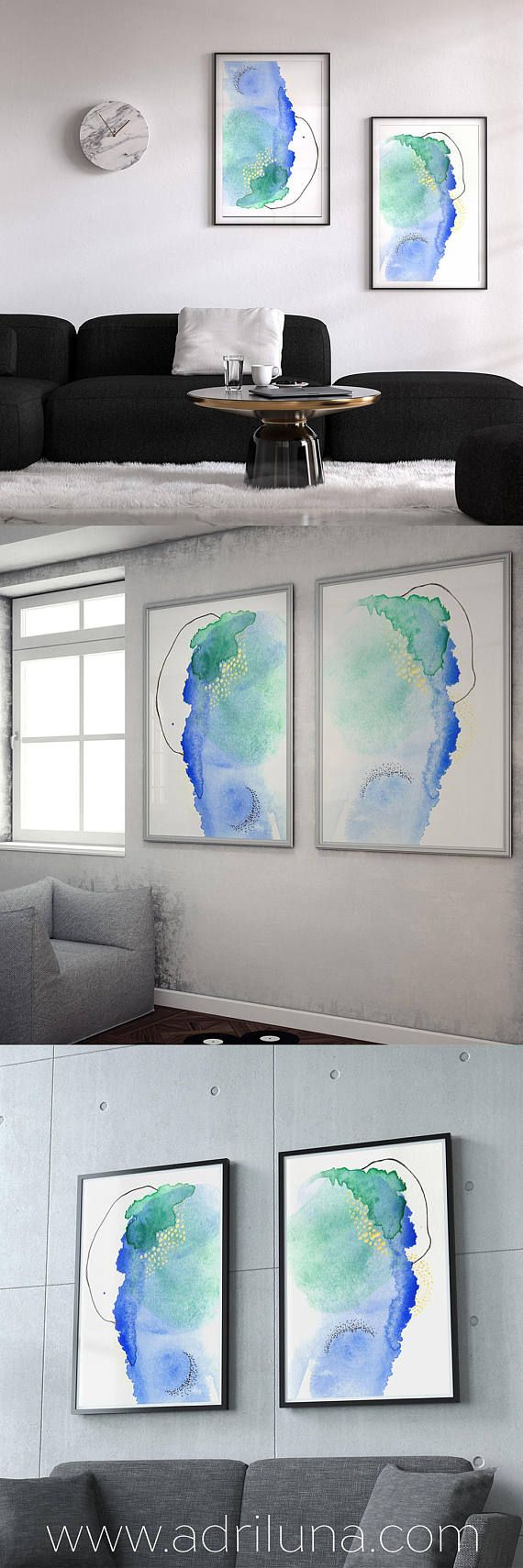 Set of Art Prints. A set of art prints is the perfect Valentines Day gift! Show your love for your love with two prints, one for each of you. Each painting was created from one mark, like a Rorschach blot of paint, then developed together. This lovely personal print set is a unique gift.