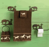 Praying Cowboy Bath Hardware Set - 3 pcs