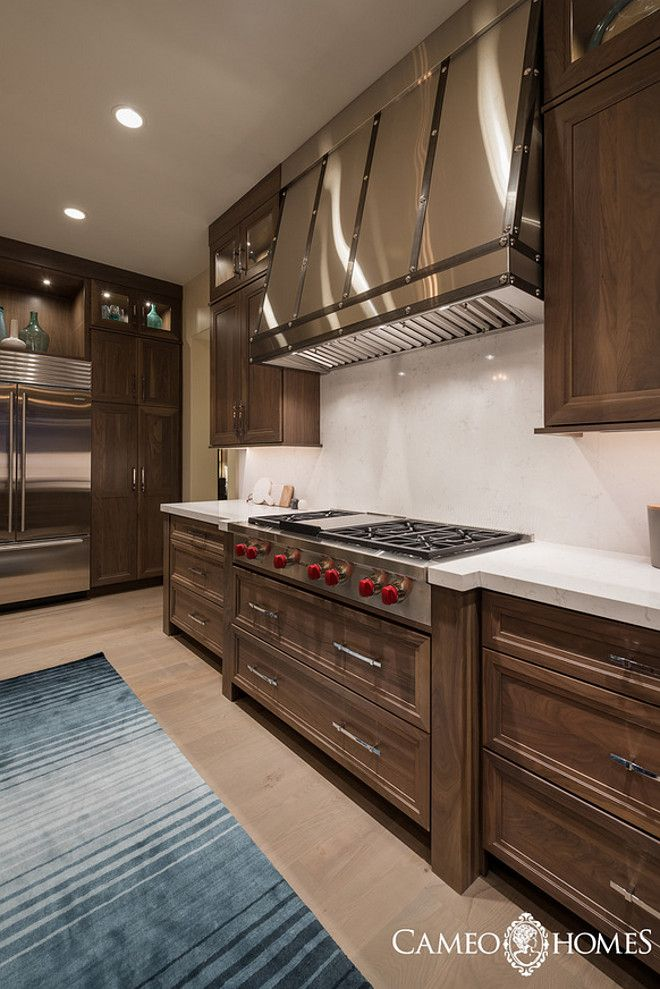 Custom Stainless Steel Kitchen Hood Cameo Homes Inc.
