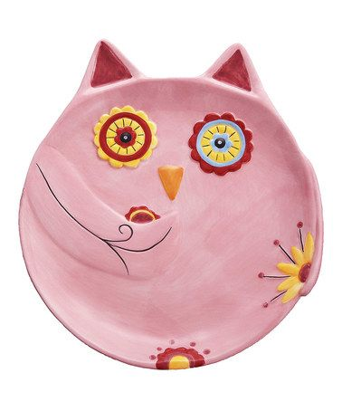 Take a look at this Pink Owl Snack Plate by GANZ on #zulily today! ISN'T THIS SO SWEET?