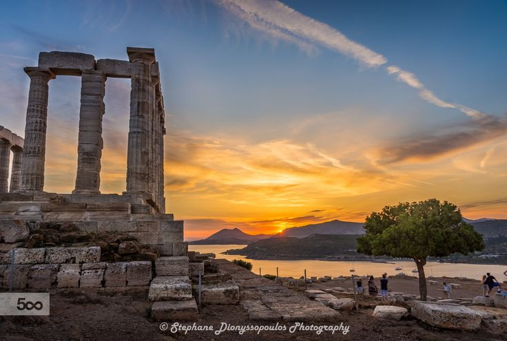 Sunset at the Temple of Poseidon by Stephane Dionyssopoulos on 500px