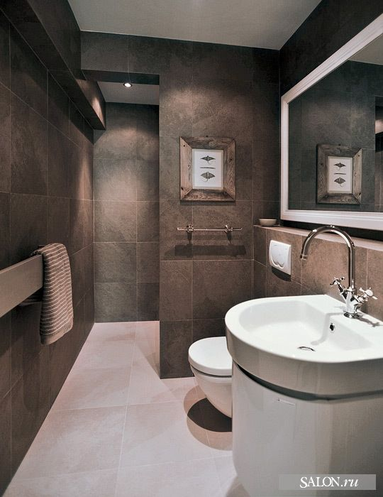 Master Bathroom Ideas Shower Tucked Behind Back Wall No Glass Needed So Easier To Keep Clean