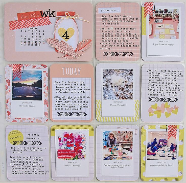 Project Life: Week 4|2014. I used Dear Lizzy Polka Dot Party! LOVE this collection!