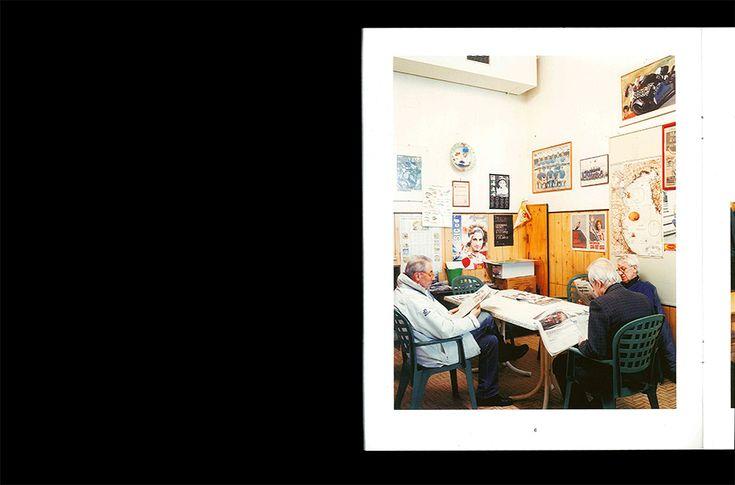 "NEL CIRCOLO - Michele Cera. curated by Silvia Loddo and cesare Fabbri for Osservatorio Fotografico within the framework of the project ""Dove viviamo"". book design by Emilio Macchia. 16 pages. 240 x 300 mm. Offset Print"