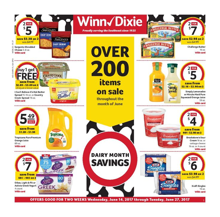Winn Dixie In-Store Flyer June 14 - 27, 2017 - http://www.olcatalog.com/grocery/winn-dixie-in-store-flyer.html