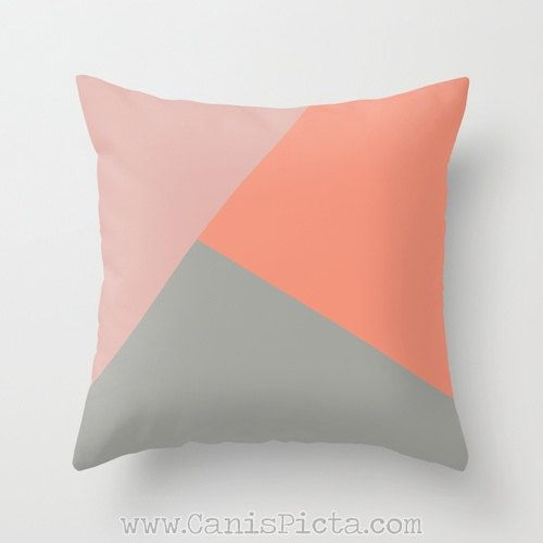Geometric Modern Throw Pillow 16x16 Decorative Cover by CanisPicta